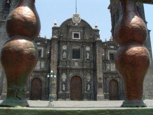 Die Kathedrale von Puebla bleibt vorerst dicht.